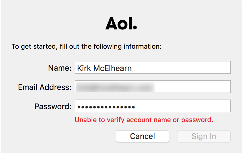 Kirkville cant log into messages on os x with an aim account aim cant log in publicscrutiny Choice Image
