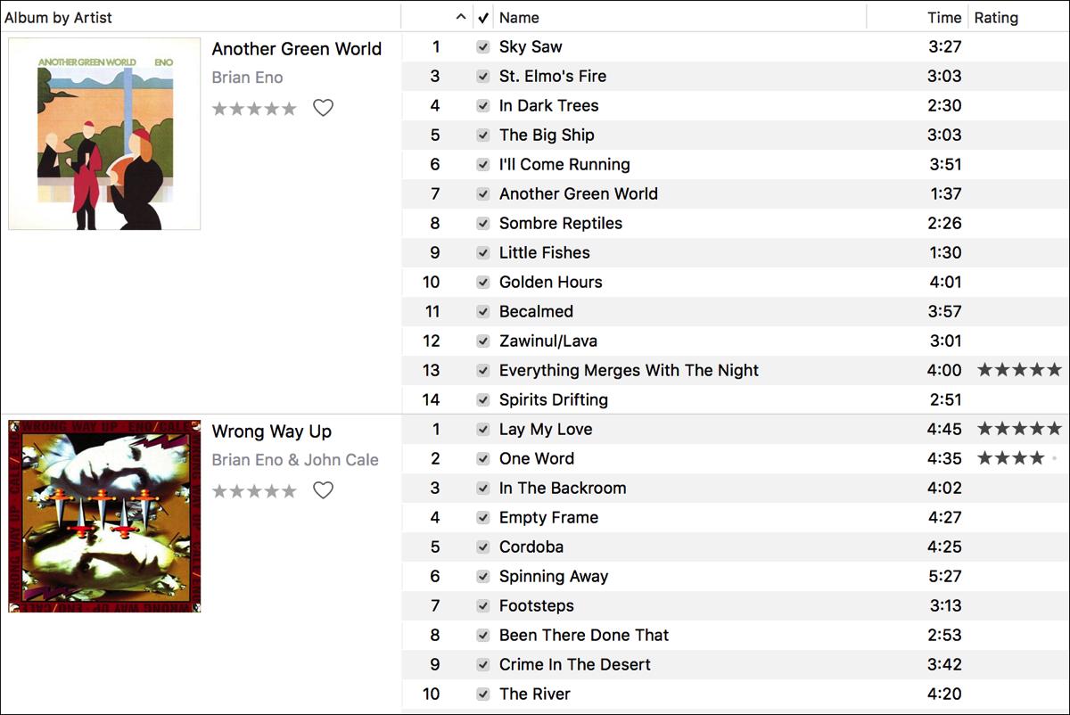 Correct song ratings