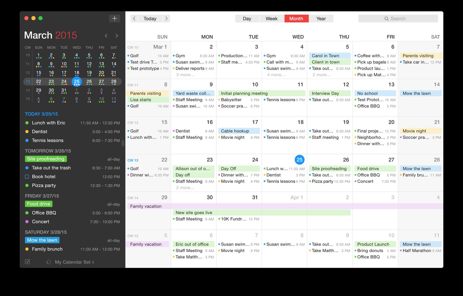 Weekly Calendar View Iphone : Fantastical a full featured calendar app for os