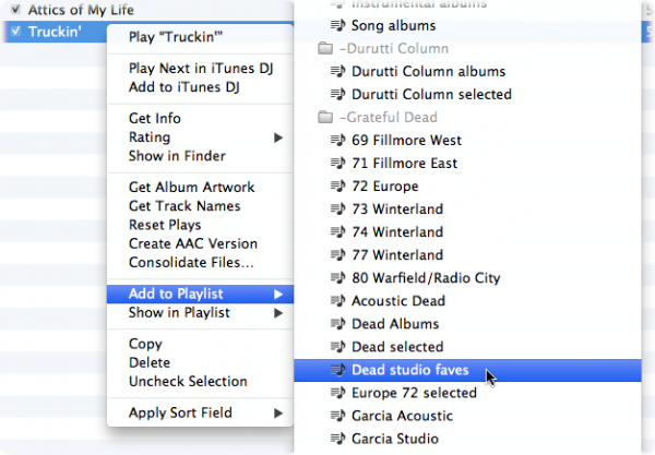 how to delete a song from a playlist on itunes