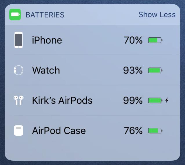 Airpods widget