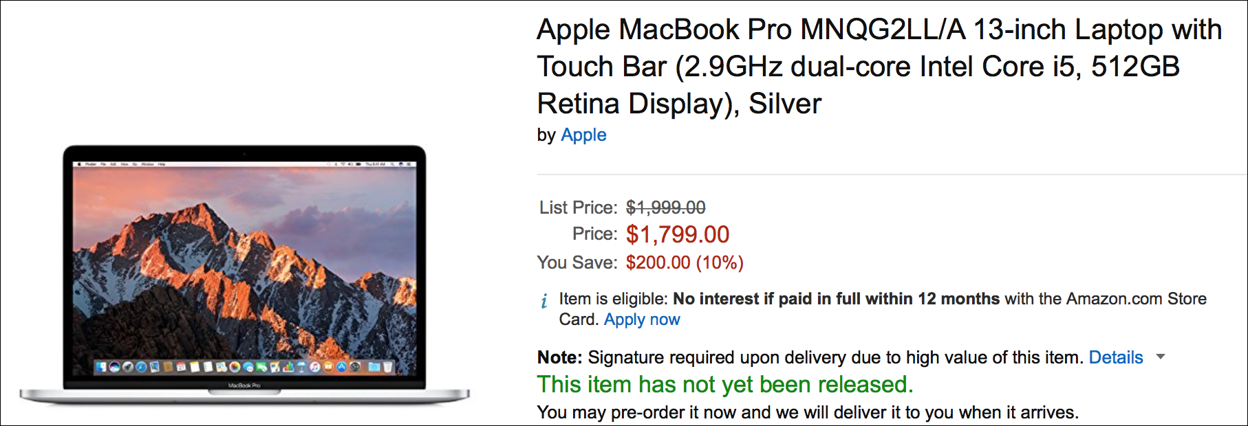 Amazon macbook pro