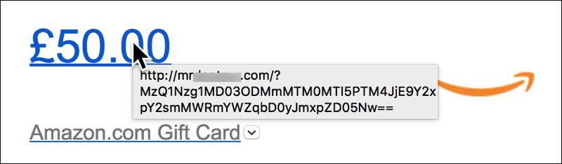 Amazon scam link