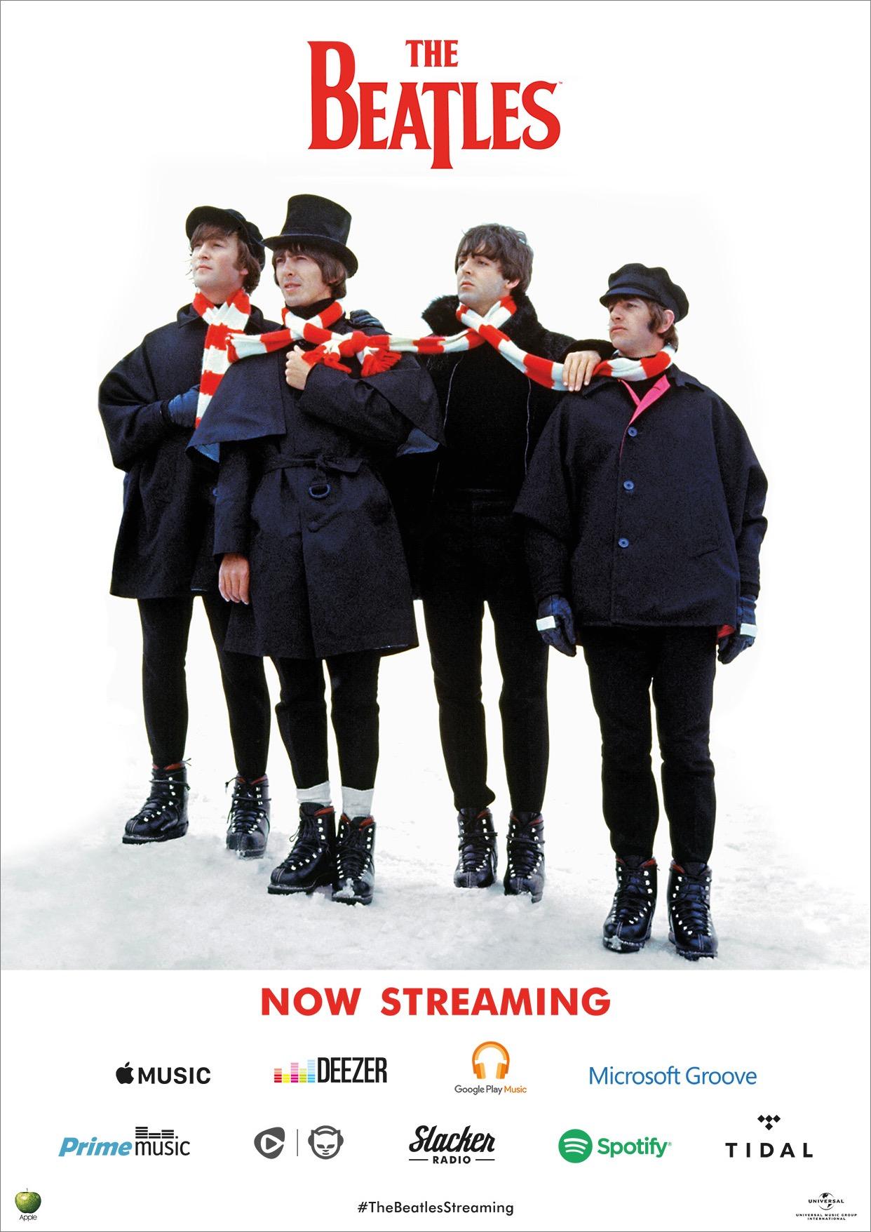 Beatles now streaming