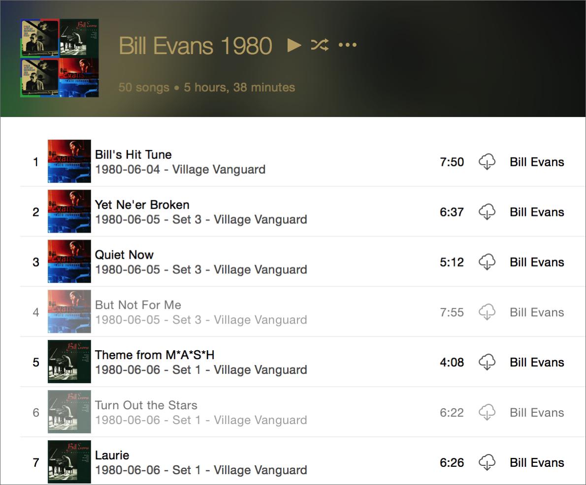 Bill evans icloud music library