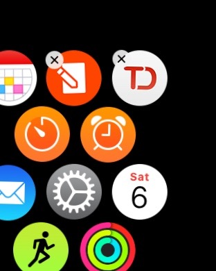 how to delete things on apple watch
