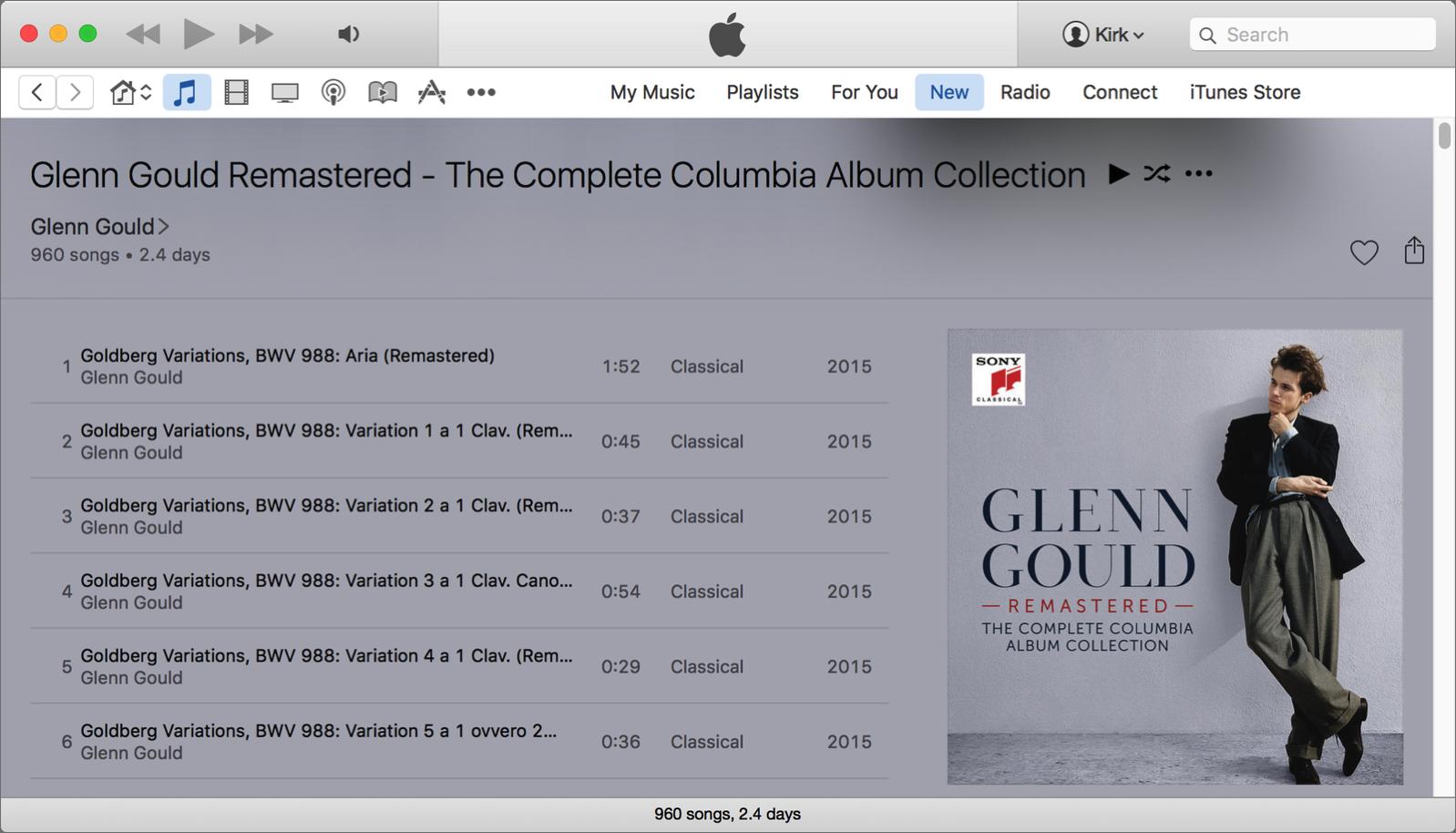 Glenn gould apple music