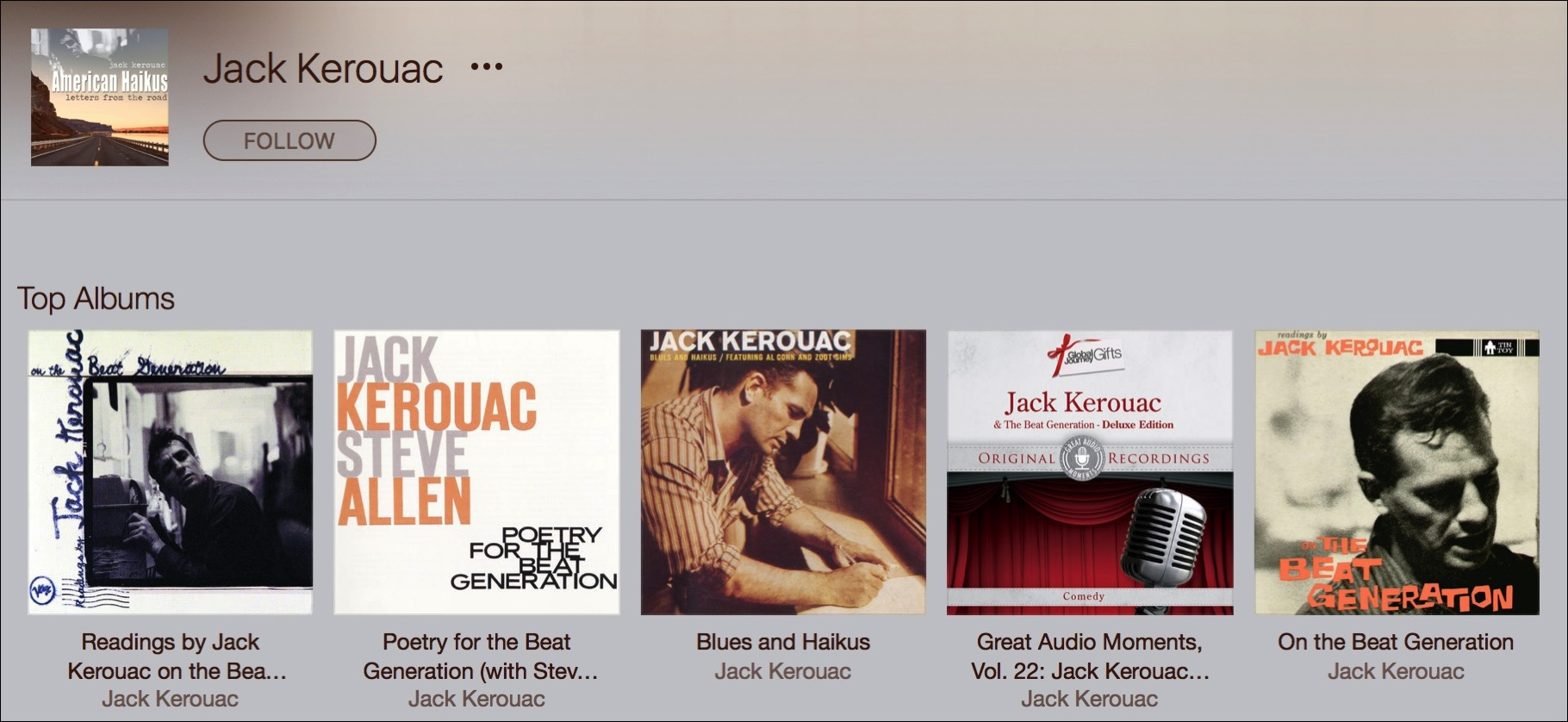 Kerouac apple music