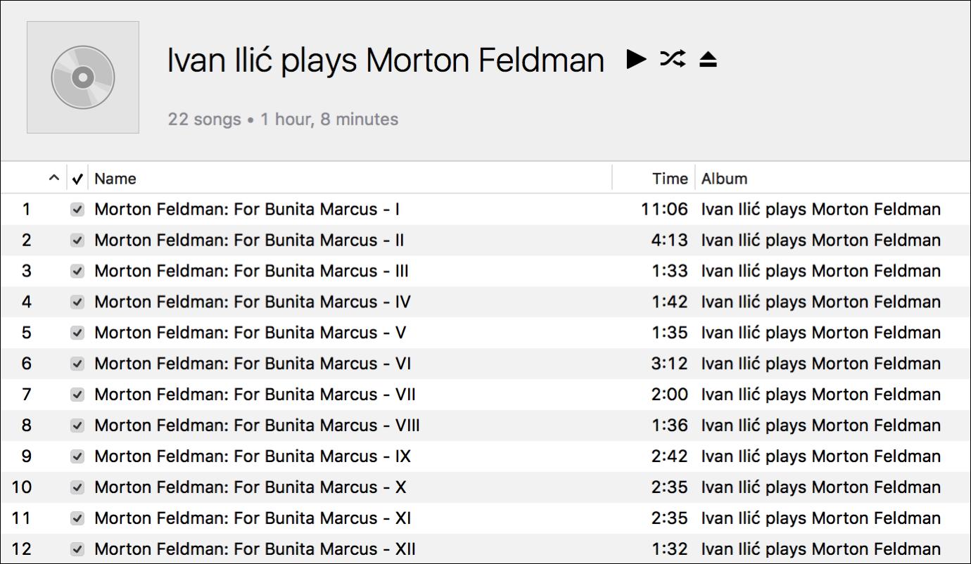 Multi track cd