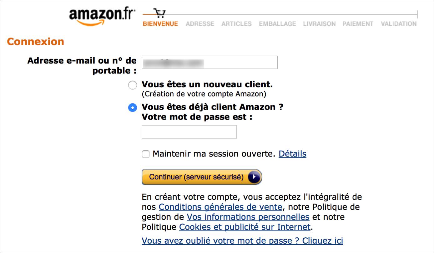 amazon log in