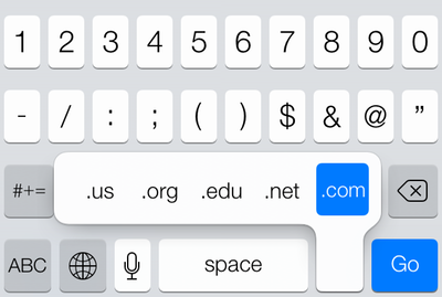 Kirkville Do You Miss The Com Button On The Ios 7 Keyboard Use