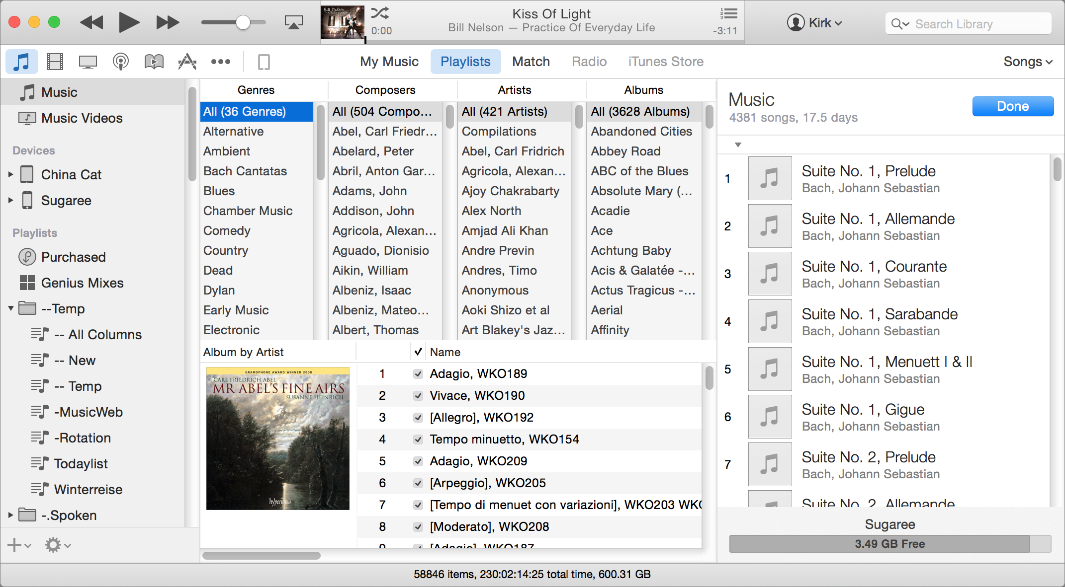 how to send a playlist itunes