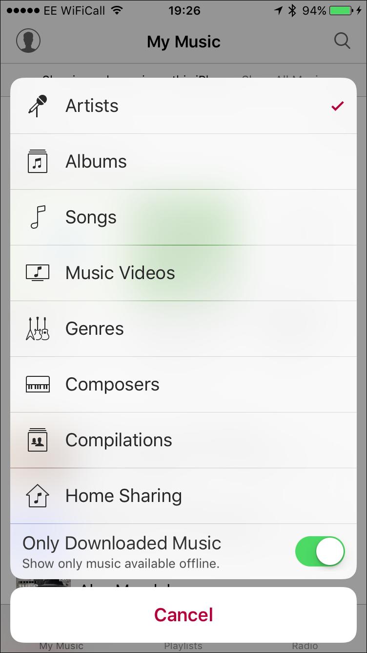 Kirkville - How to Show or Hide Music in the Cloud in the