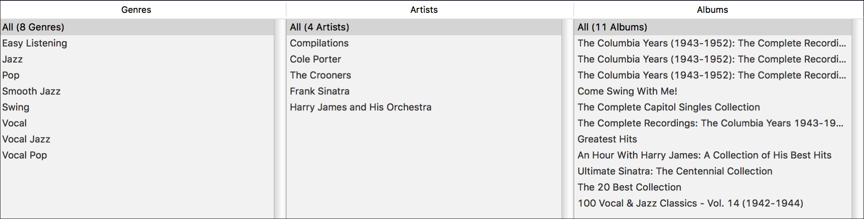 Sinatra column browser